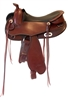 Freeform Western Barrel LW Treeless Saddle
