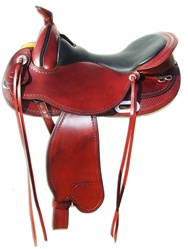 Freeform Western Barrel SN Treeless Saddle