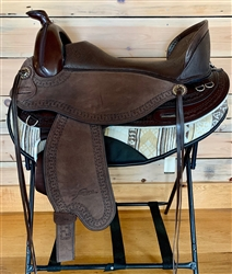 Freeform Virginian Western Barrel Treeless Saddle